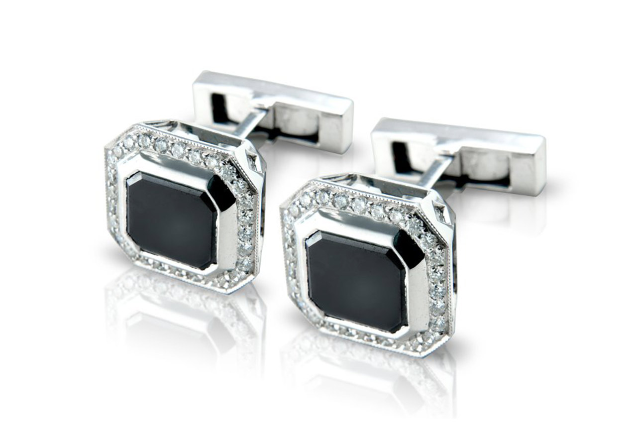Black diamonds are a great choice for men's jewellery