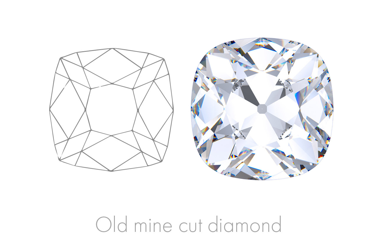 The Old Mine Cut harks back to a time when these precious gems were measured by eye and cut by hand, a skill most rare.