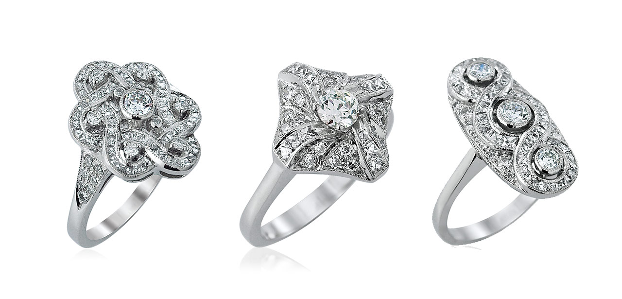 Diamond Rocks Deluxe Vintage Ring Collection